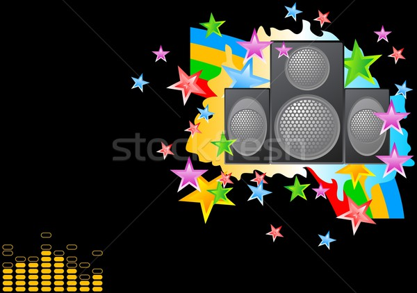 Musical background Stock photo © saicle