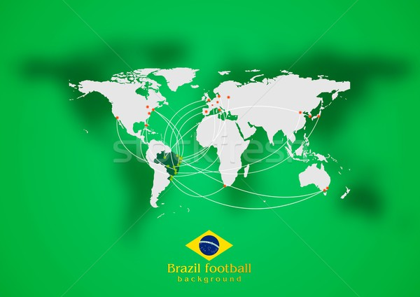 Concept air traffic design. Brazilian colors Stock photo © saicle