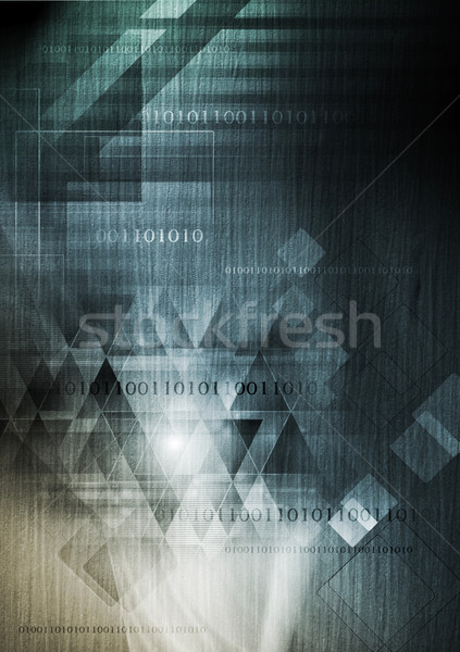 Hi-tech background with wooden texture Stock photo © saicle
