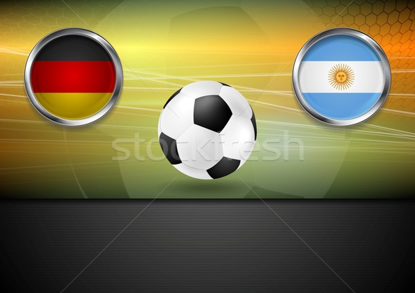 Final football. Germany and Argentina in Brazil 2014 Stock photo © saicle