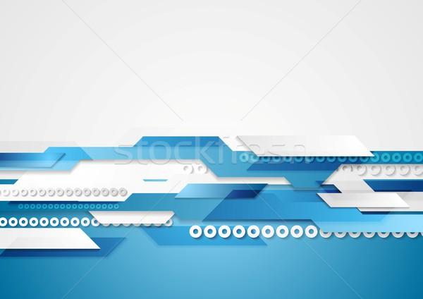 Blauw beweging vector ontwerp textuur Stockfoto © saicle