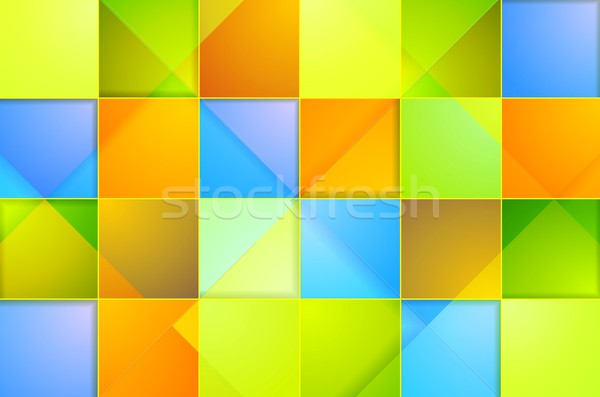 Colorful abstract tech squares vector background Stock photo © saicle