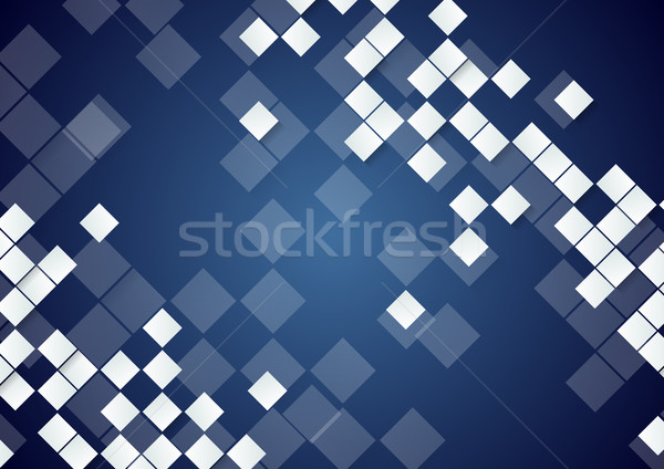 белый Tech темно синий вектора Сток-фото © saicle