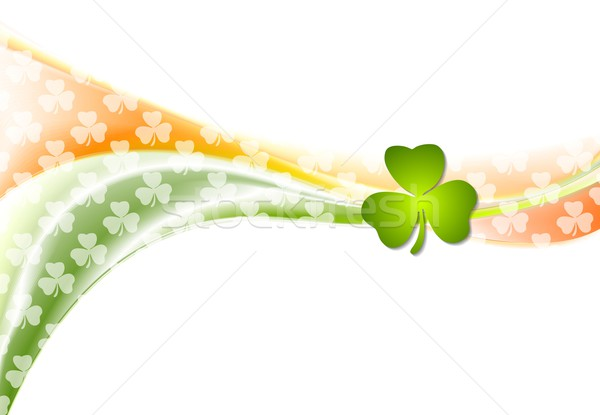 St. Patrick Day wavy background with Irish colors Stock photo © saicle