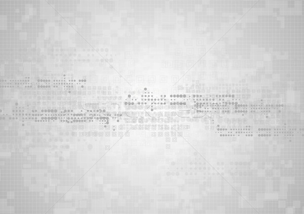 Hi-tech geometric grey abstract background Stock photo © saicle