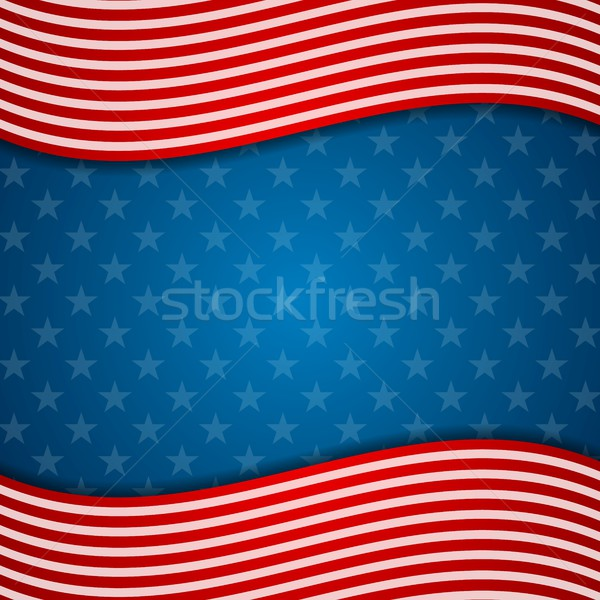 Memorial Day abstract USA flag colors background Stock photo © saicle