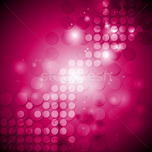 Shiny crimson tech background with circles Stock photo © saicle