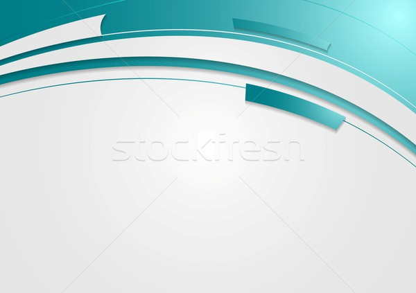 Resumen geométrico ondulado brillante vector diseno Foto stock © saicle