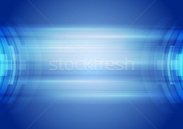 Abstrakten blau Corporate Vektor Kunst Design Stock foto © saicle