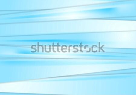 水色 抽象的な 縞模様の ベクトル デザイン テクスチャ ストックフォト © saicle