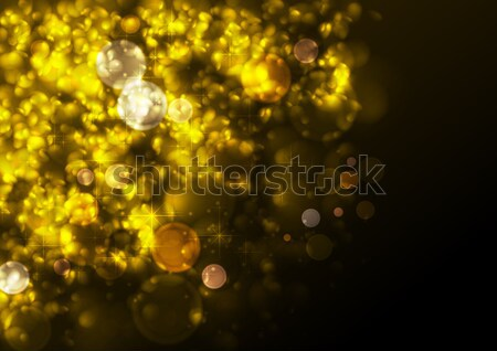 Golden festive abstract luminous Christmas particles Stock photo © saicle