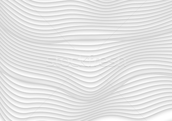 Abstract grey white 3d waves vector background Stock photo © saicle