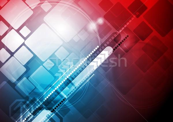 Abstrato tecnologia projeto azul vermelho tecnologia Foto stock © saicle