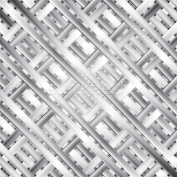 Modern acél vektor textúra sablon absztrakt Stock fotó © saicle