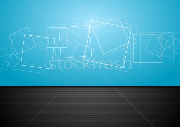 Stock photo: Abstract contrast blue and black backdrop