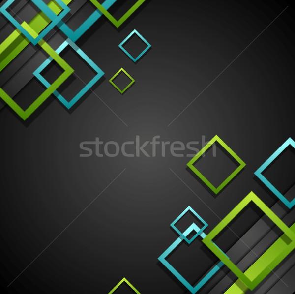Vetor verde azul preto brilhante Foto stock © saicle
