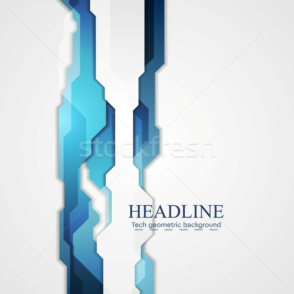 Blue hi-tech vector background Stock photo © saicle