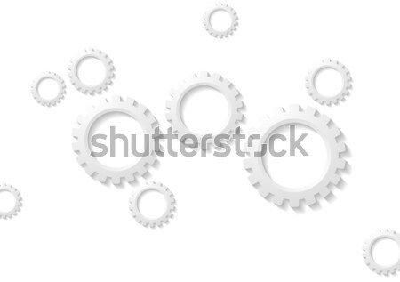 Abstract tech papier versnellingen mechanisme web Stockfoto © saicle