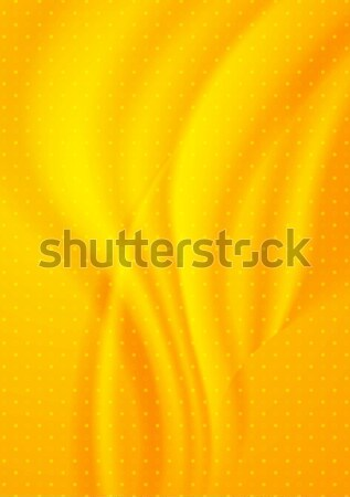 Bright orange dotted wavy background Stock photo © saicle