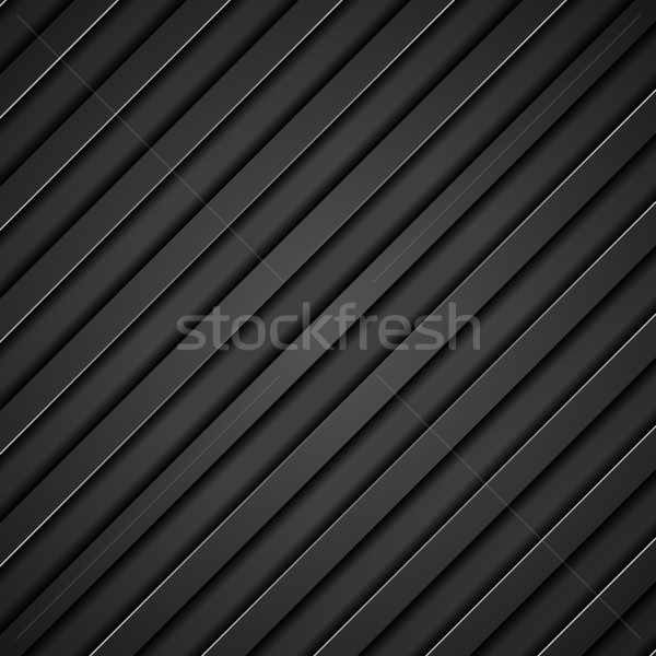 Abstract tech black diagonal stripes background Stock photo © saicle