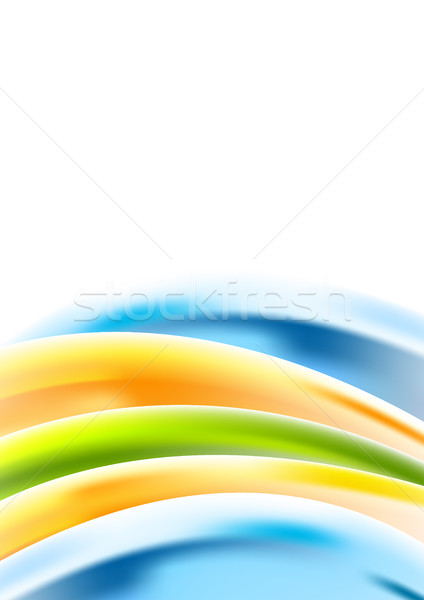 Abstract multicolored corporate waves background Stock photo © saicle