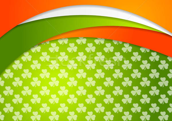 St. Patrick Day background with Irish flag colors Stock photo © saicle