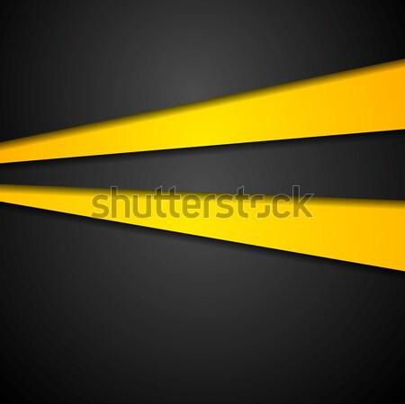 контраст оранжевый черный корпоративного дизайна вектора Сток-фото © saicle