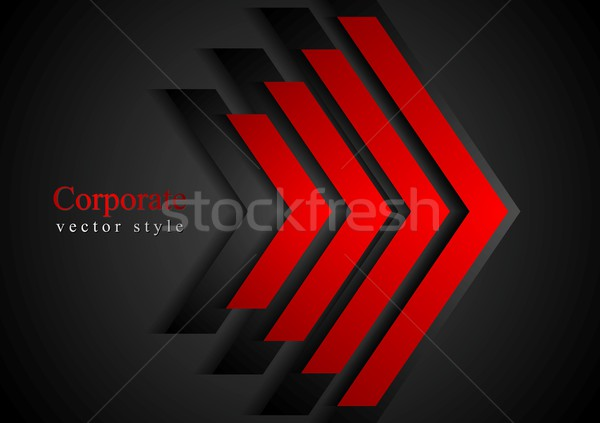 Piros nyilak mértan vállalati vektor terv Stock fotó © saicle