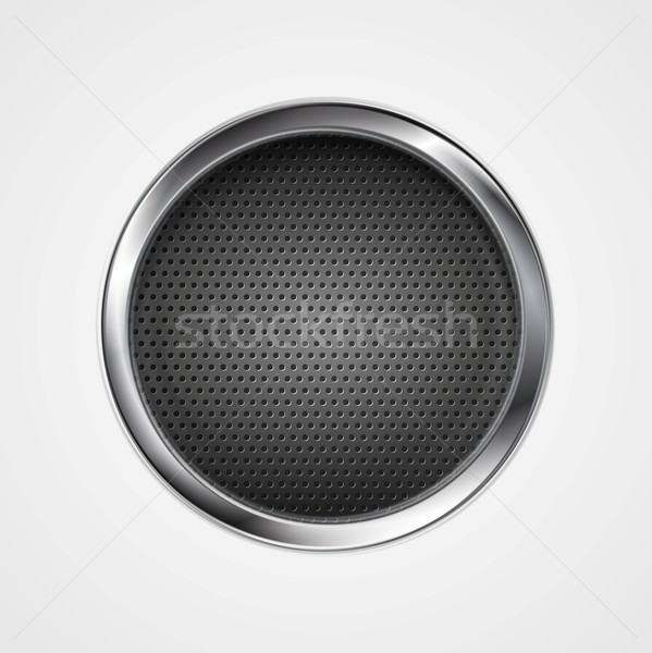 Abstract metal perforated circle background Stock photo © saicle