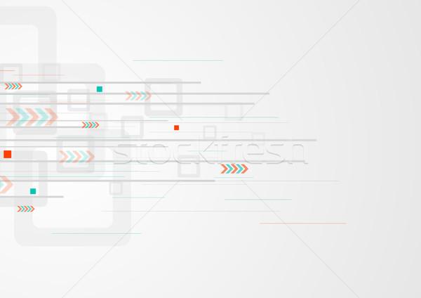 Szary tech minimalny technologii Zdjęcia stock © saicle