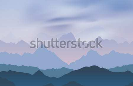 Nature landscape with mountain peaks Stock photo © saicle