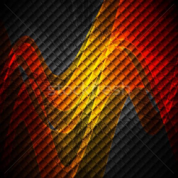 ストックフォト: オレンジ · 波 · 暗い · 背景 · 明るい · 波状の