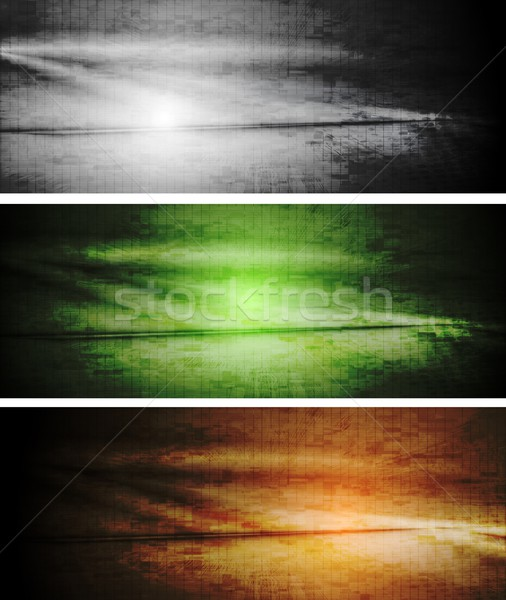 Vector textural grunge banners Stock photo © saicle