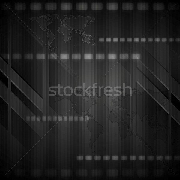 Dark hi-tech vector background Stock photo © saicle