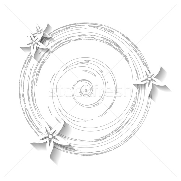 Biały grunge kwiatowy wektora szablon projektu Zdjęcia stock © saicle