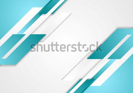 Blue and grey corporate background Stock photo © saicle