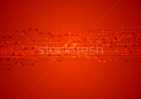 Red bright vector technical background Stock photo © saicle