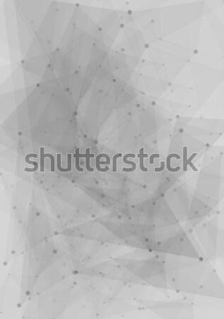 Abstract tech grey polygonal design Stock photo © saicle