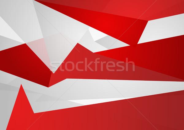 Red and grey abstract tech polygonal background Stock photo © saicle