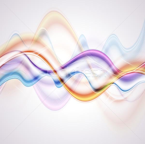 ストックフォト: カラフル · 波 · ベクトル · 抽象的な · デザイン