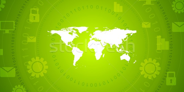 Global communication green tech vector design Stock photo © saicle