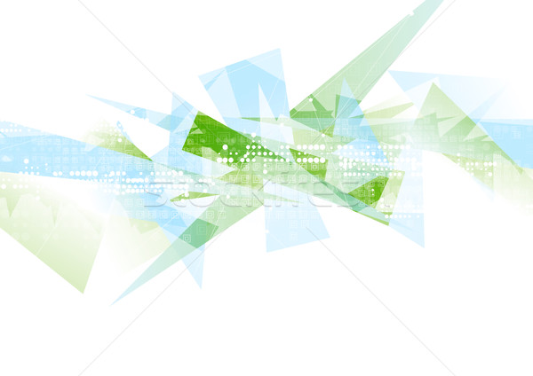 Abstract hi-tech geometric polygonal shapes background Stock photo © saicle