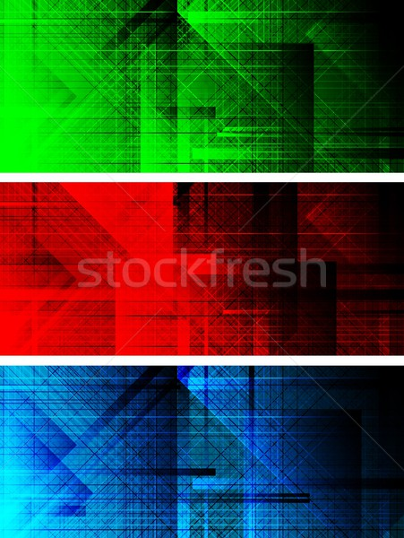 Set of dark textural banners (eps 10) Stock photo © saicle