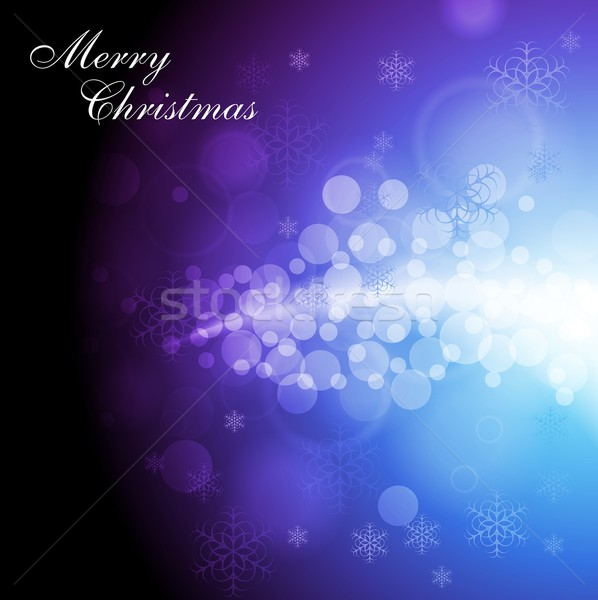 Abstrato alegre natal flocos de neve Foto stock © saicle