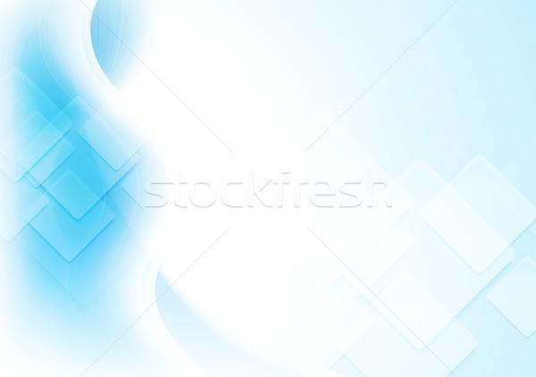 ストックフォト: カラフル · 波状の · ハイテク · 明るい · 青 · 波