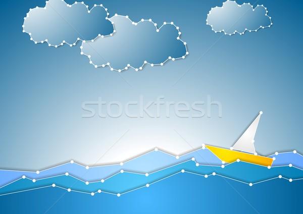 Concept schematic sea view background Stock photo © saicle