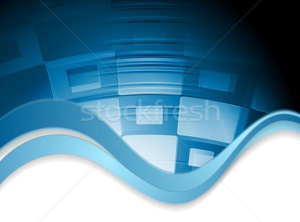 Resumen ondulado tecnología vector diseno textura Foto stock © saicle