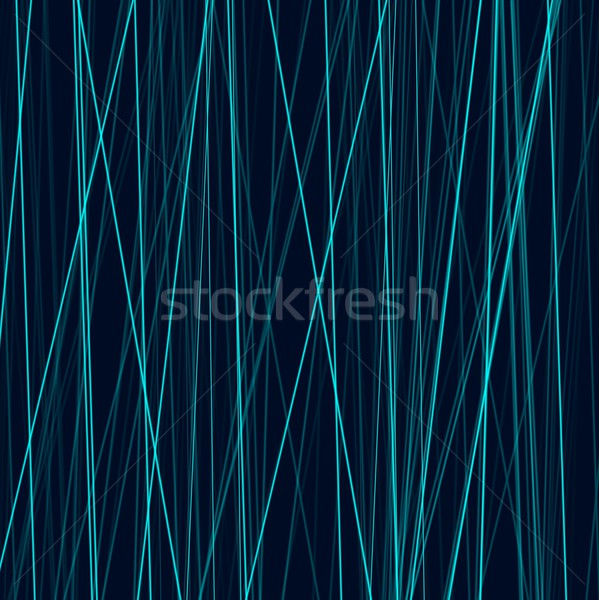 Cyan neon abstract lines on dark background Stock photo © saicle