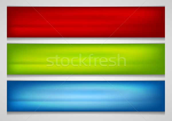 Bright smooth gradient vector banners Stock photo © saicle