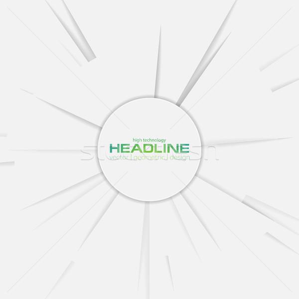 Absztrakt szürke vállalati kör vektor terv Stock fotó © saicle